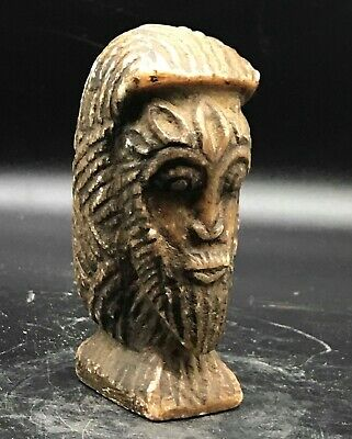 Unique ancient bactrian holy majestic emperor stone idol statue 900-1000 AD