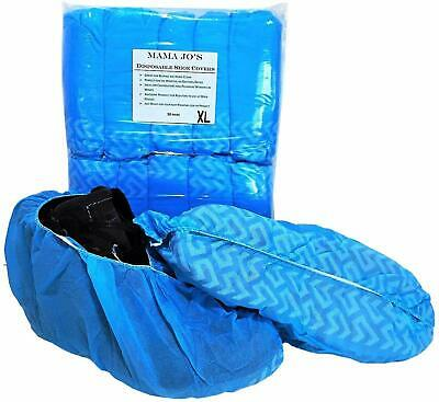 XL Disposable Shoe Covers - 50 Pairs Per Pack - Fits Shoe Boot Size 5 - 15