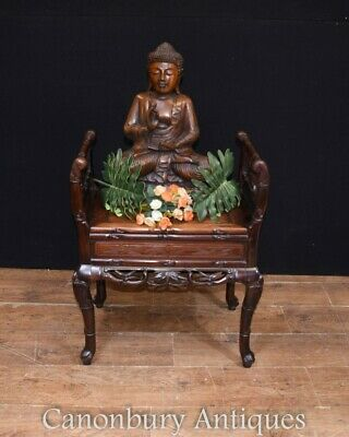 Antique Chinese Stool Hand Carved Piano Circa 1880