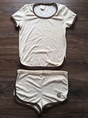 RARE Vtg FABERGE Perfume BABE SPORT SUIT Terry Cloth SHORTS & TOP Romper SET