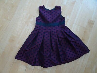 MOTHERCARE girls red black spot party dress AGE 3 - 4 YEARS EXCELLENT COND