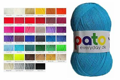 Cygnet DK Pato Everyday Wool Yarn Double Knitting Acrylic 100g Choice of Shades