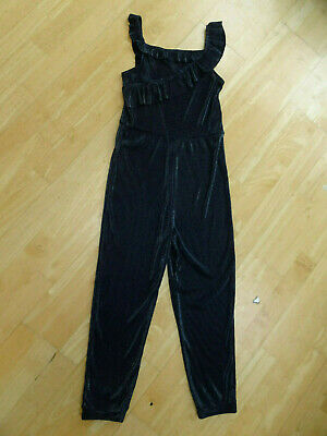 NEXT girls navy blue pleated stylish trousers jumpsuit all in one AGE 10 YEARS
