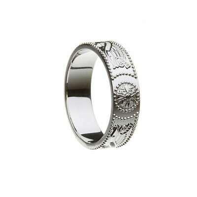 Men's Celtic Warrior Wedding Band Ring Size 13.5 - Made in Ireland
