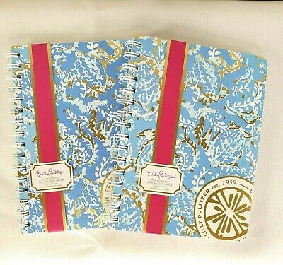 Lot of 2 New Lilly Pulitzer Mini Notebooks 160 Ruled Pages Turtley Awesome