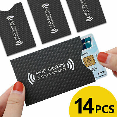 RFID Blocking Credit Card Passport Cover Protector Shielded Sleeve Cards Case