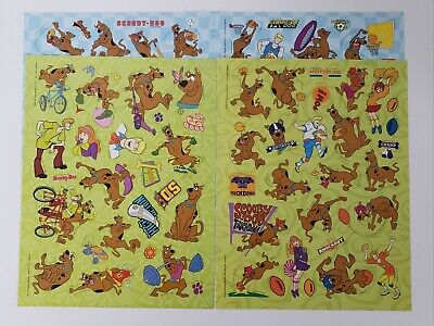 Lot Of 4 Loose Sheets Of Scooby Doo Stickers Sports Theme. Home Activities