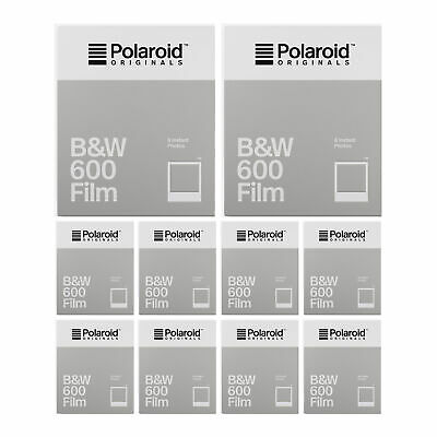 Polaroid Originals B&W 600 Instant Camera Film (10-Pack)