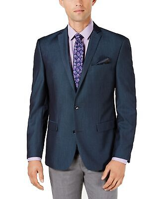 Bar III Mens Suit Seperate Blue Size 36 S Stretch Slim Two Button $295 244