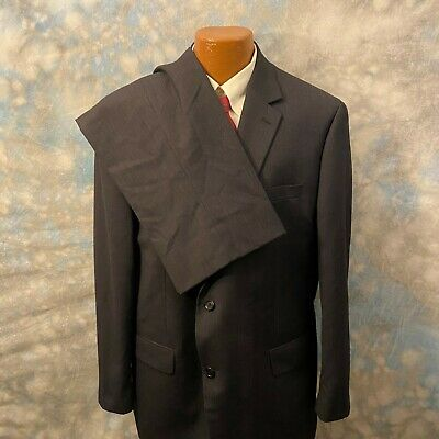 Michael Kors 48 R Gray Striped Wool Two Button 2 Pc Men's Suit
