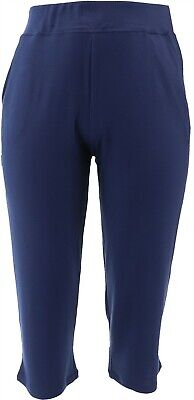 Belle Kim Gravel Lovabelle Lounge Cropped Pants Twilight XL NEW A351606