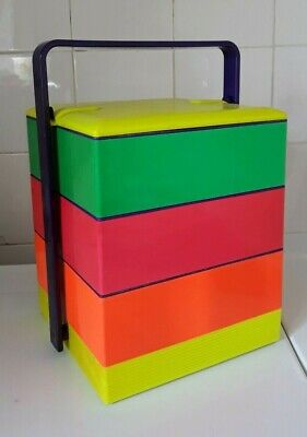 Vintage Early 1980S Jubako Bento Stacking Picnic Lunch Box - Japan
