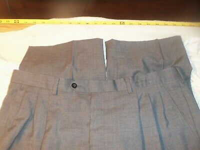 Vito Rufolo pleated no cuffs wool 36 x 31 #533