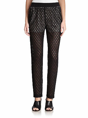 See by Chloe Womens Pants Black Size US 6 FR 42 Lace Stretch Trousers $320 852