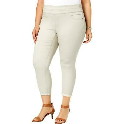 Style & Co. Womens Pants Stonewall Beige Size 24W Plus Casual Stretch $56 189