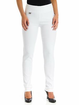 Lisette L Womens Dress Pants White Size 2 Slim Skinny-Leg Stretch $59- 000