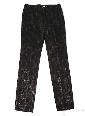 Ilusion Womens Pants Black Size 4 Dress Shimmer Metallic Stretch $89 517