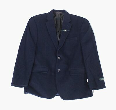 Lauren By Ralph Lauren Mens Blazer Blue Size 38 Short Two Button Wool $450 #012