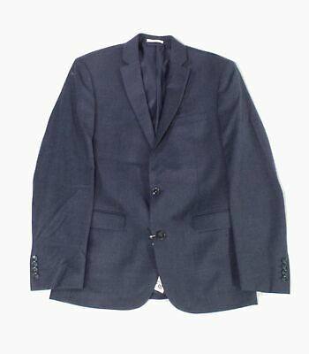 Bar III Mens Blazer Navy Blue Size 38 Slim Fit Two Button Wool $425 #013