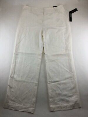 ~NWT~ ALFANI Womans Size 14 Wide Leg Lined Dress Pants Bright White