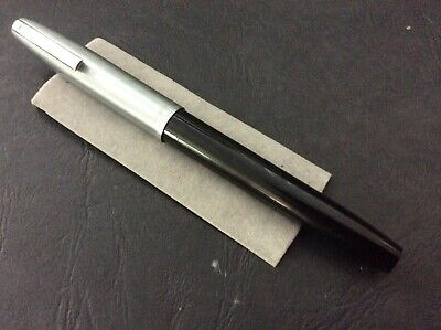 Sheaffer Imperial Converter Filler Black  Anodised Cap S/ Steel Fine Inlaid Nib