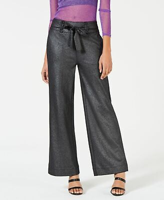 XOXO Womens Dress Pants Black Size Small S Tie-Waist Wide-Leg Trousers $59 246