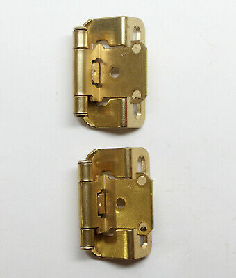 Pair of 2.75 in. Partial Wrap Amerock Brass Plated Cabinet Hinges