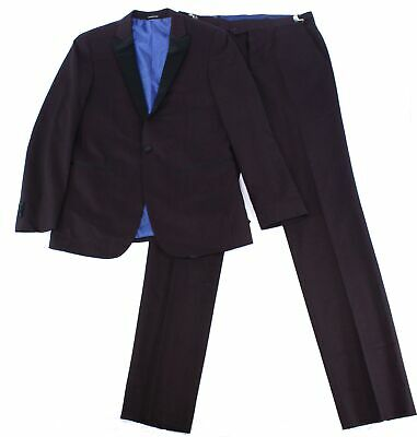 London Fog Mens Suits Red Size 38 Tuxedo Notched-Lapel One-Button $250 563