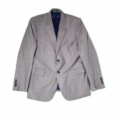 Designer Brand Mens Suit Gray Size 44 Notch-Collar Two Button Wool $128- 153