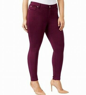 CELEBRITY PINK Womens Pants Red Size 16W Plus Mid Rise Skinny Stretch $59 344