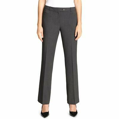 Calvin Klein Womens Dress Pants Gray Size 6 Flat-Front Modern-Fit $59 342