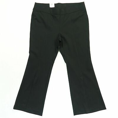 INC Womens Black Size 22W Plus Split Front Flare Pull On Stretch $89 170