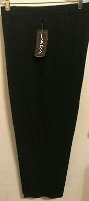 Women's Dress Pants/Fit Elastic Waistband Comfort/ Pockets/Size 18 /Made in USA