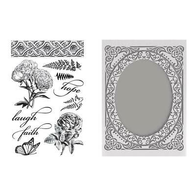 Couture Creations Stamp and Embossing Set Butterflies and Roses