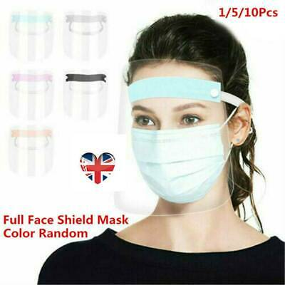 Full Face Shield Clear Flip Up Visor Oil Fume Protection Safety Work Guards UK!