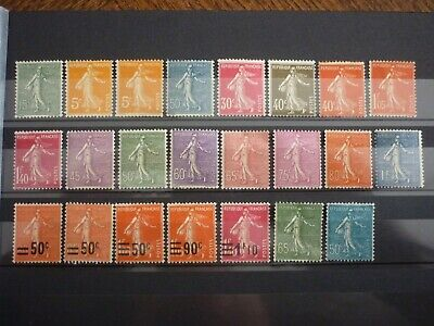 France Lot 23 Timbres Type Semeuse Neufs. Cote 165 Euros
