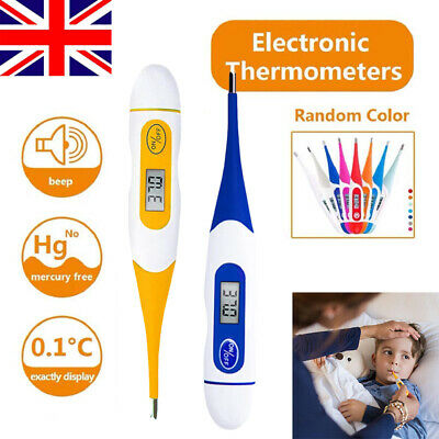 Digital LCD Thermometer Body Temperature Mouth Underarm Adult Kids Baby Medical