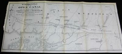 William Burdon's Open Canal Plan Map Spring Creek To Hempstead Ny Late 1800S