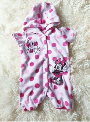 """Baby Girl/'s Disney MINNIE MOUSE /""""Fairy/"""" Summer Romper In 2 Colours 0-18 Months"""