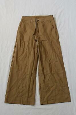 Warehouse Women's Crease Front Wide Cut Trouser CD4 Brown Size US:6 UK:10 NWT