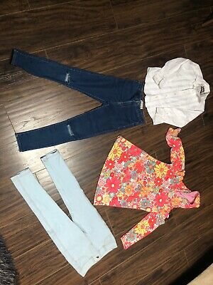Girl's Clothes Bundle Age 7-8 Years In Good Condition. Zara, Monsoon, M&S