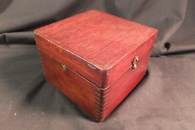 ANTIQUE MARITIME BOAT Compass IN DOVETAILED BOX W GIMBAL RING