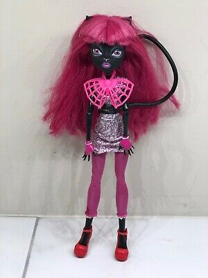 Monster High Doll Catty Noir 13 Wishes Black Cat Pink Hair MH Mattel-2011