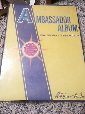 1979 Ambassador Album For Stamps of the World over 1000 stamps tons in packets