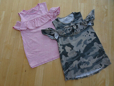 NEXT girls cold shoulder tunic tops 2 PACK pink green AGE 10 YEARS EXCELLENT
