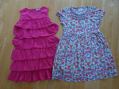 MINI BODEN girls 2 pack summer dresses pink floral AGE 9 - 10 YEARS EXCELLENT