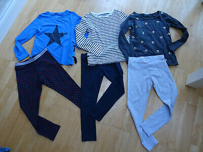 NEXT girls 6 piece leggings & tops sets AGE 9 YEARS EXCELLENT COND