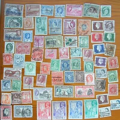 Small group of older pre-decimal Commonwealth stamps