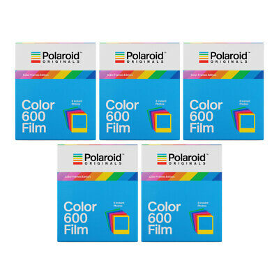 Polaroid Originals Instant Color Film for Color Frames (600 Camera) 5 Pack