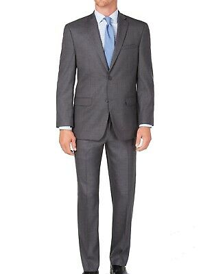 Marc New York Mens Suit Sol Gray Size 40 Long Modern Fit Two Button $395 142